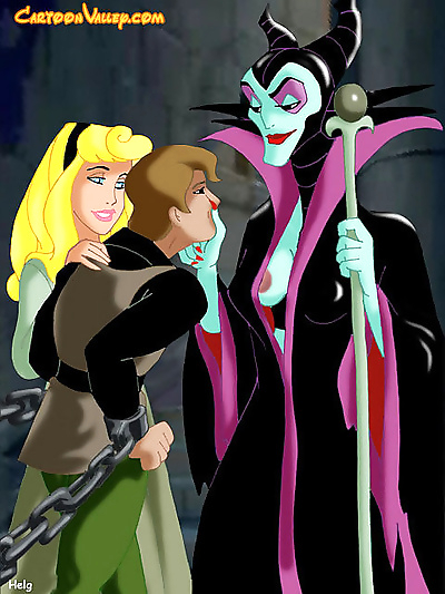 The evil witch and aurora..